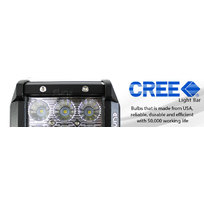2x 18W 4 inch CREE LED Work Light Bar Driving Flood Lamp 4WD Offroad Truck UTE