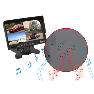 "7"" Quad Monitor Splitscreen Colour CCD Reversing Camera 4PIN Kit Truck Caravan"