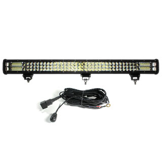 "31"" inch LED Light Bar 3 Rows Work Driving FLOOD SPOT COMBO Philips Offroad 4WD"