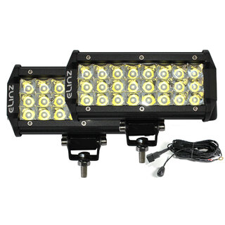 "2x 7"" LED Work Driving Light Bar Philips Spot Offroad 3 Rows 12V 24V 4WD Truck"