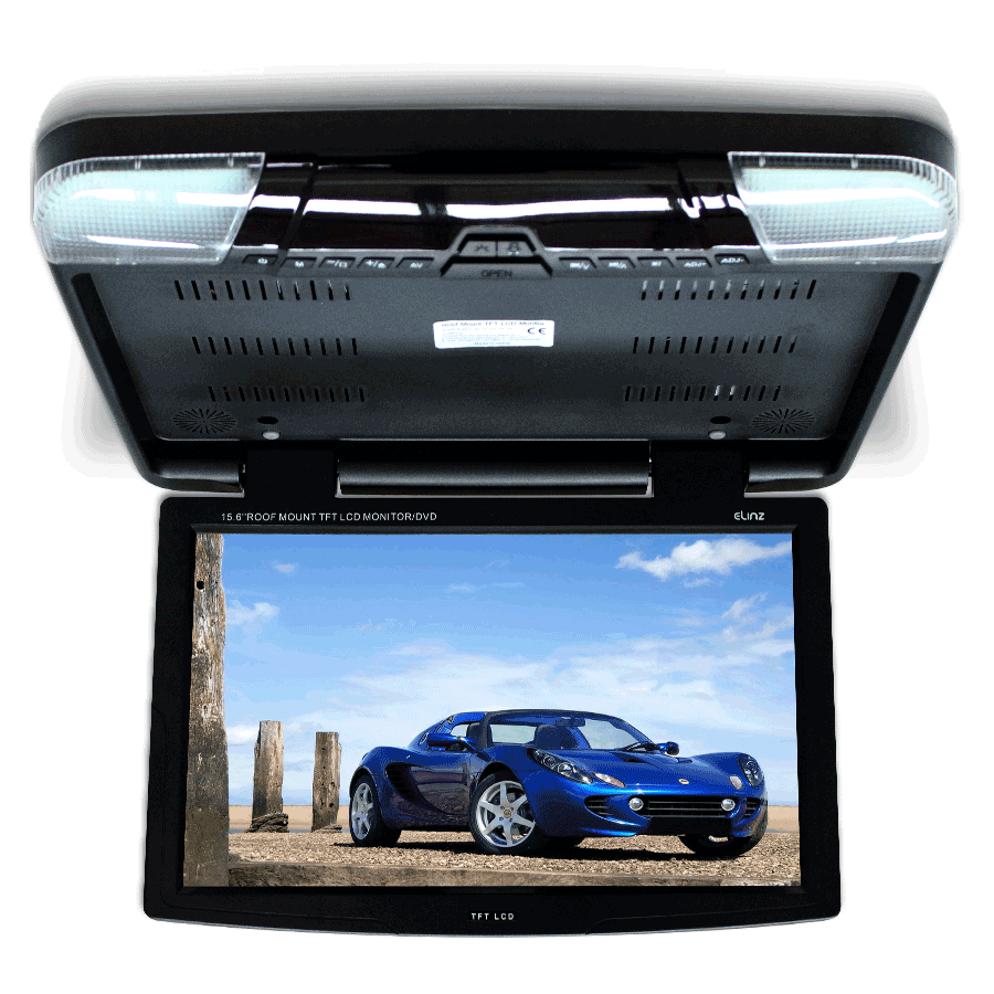15 6 Quot Dvd Player Roof Mount In Car Flip Down Monitor Suit
