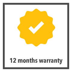 12 months warranty check graphic