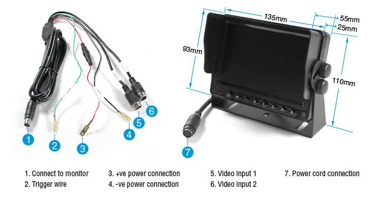 5 U0026quot  Tft Lcd 12v  24v Reversing Camera System Built