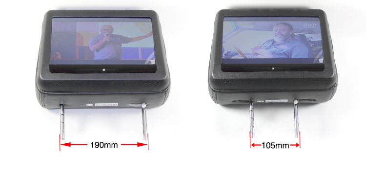 Headrest dvd players pole