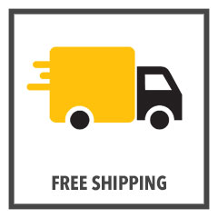 "yellow truck cartoon with caption ""free shipping"""