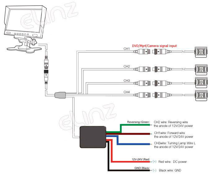 Rear View Camera Wiring Diagram 4 Pin on wirerless backup camera wiring diagram