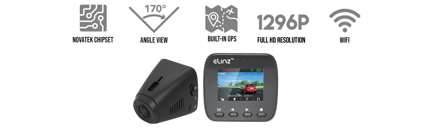 1296P GPS WiFi Hidden Car Dash Cam
