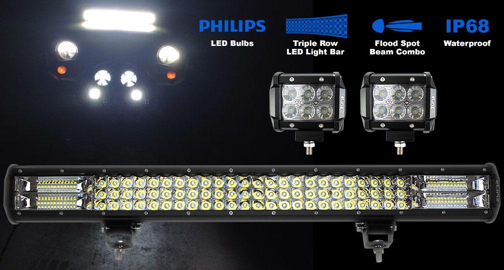 "26"" LED Light Bar 18W 4 inch Worklight"