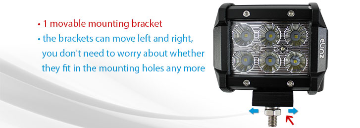led worklight with mounting movable bracket