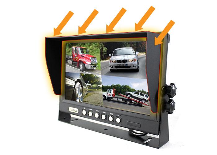 sunshade design on large quadscreen monitor