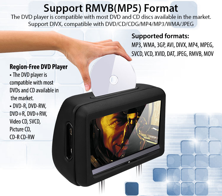 dvd player for car rmvb