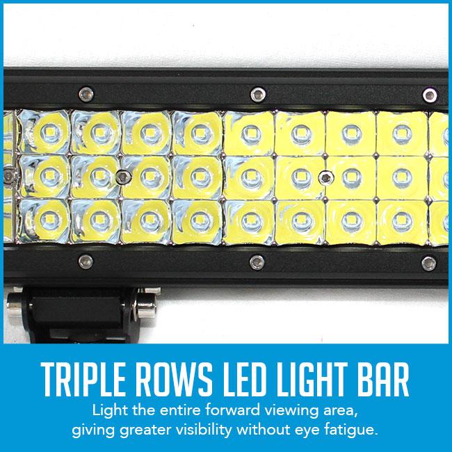 26 inch 3 rows led light bar