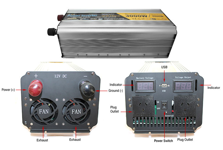 label modified sine wave inverters