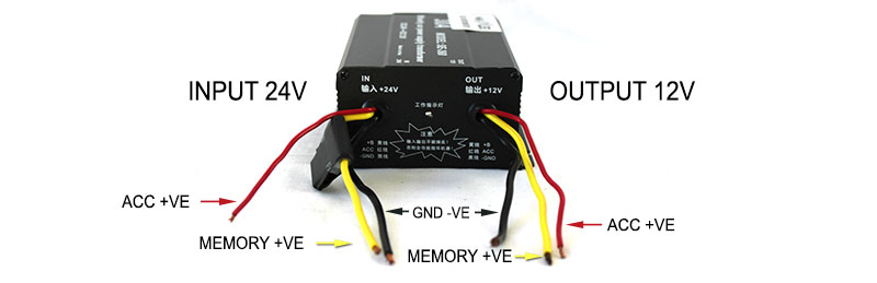 wires Vehicle Converter 30CYCONVERTER vehicle dc voltage converter step down 24v to 12v 30a car inverter wiring diagram of 24v to 12v buck converter at crackthecode.co