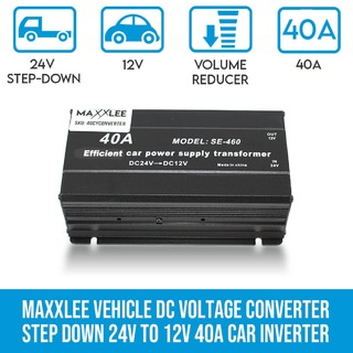 Vehicle DC Voltage Converter Step down 24V to 12V 40A Car Inverter