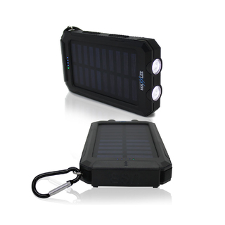 10000mAh Solar Power Bank BLACK