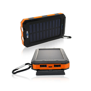 10000mAh Solar Power Bank ORANGE
