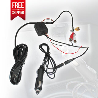 Car Cigarette Lighter Charger Power Supply for Headrest DVD Player