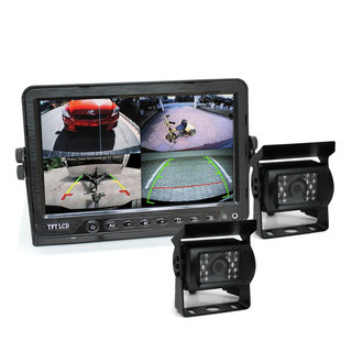 "7"" DVR Monitor 4CH Realtime with 2 Camera Package"