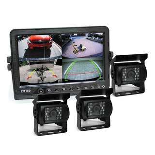 "7"" DVR Monitor 4CH Realtime with 3 Camera Package"