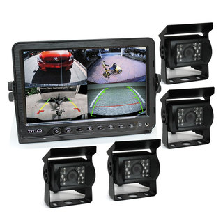 "7"" DVR Monitor 4CH Realtime with 4 Camera Package"
