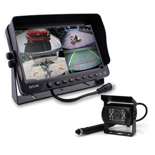 "9"" DVR Monitor 4CH Realtime with 1 Camera Package"