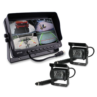 "9"" DVR Monitor 4CH Realtime  with 2 Camera Package"