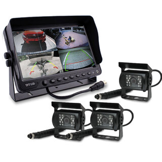 "9"" DVR Monitor 4CH Realtime  with 3 Camera Package"