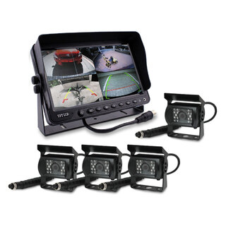 "9"" DVR Monitor 4CH Realtime with 4 Camera Package"