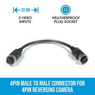 4PIN Female to Female connector for 4PIN Reversing Camera
