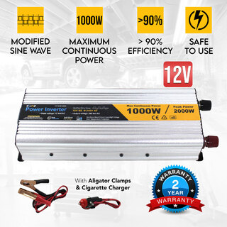 1000W / 2000W 12V-240V Power INVERTER Modified Sine Wave Camping Caravan Boat