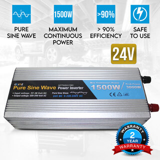 Pure Sine Wave Power Inverter 1500w/3000w 24v - 240v AUS plug Truck Car Caravan