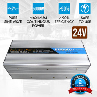 Pure Sine Wave Power Inverter 5000w/10000w 24v - 240v AUS plug Truck Car Caravan