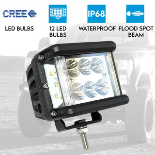 60W LED Driving WorkLight CREE Flood Spot Beam 12V 24V Truck Lamp Light Offroad