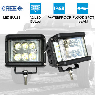 2x 60W LED Driving WorkLight Flood Spot Beam CREE 12V 24V Lamp Light Offroad 4x4
