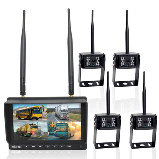 "Wireless 7"" Quad Monitor 4 camera package"