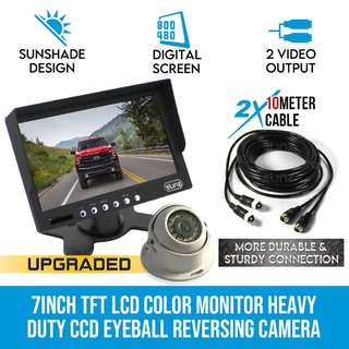 "7"" Monitor HD 12V/24V Reversing CCD Eyeball Camera Truck Caravan"