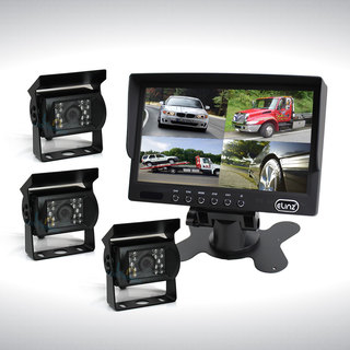 "7"" Quad Monitor Splitscreen with 3 Cameras Package"