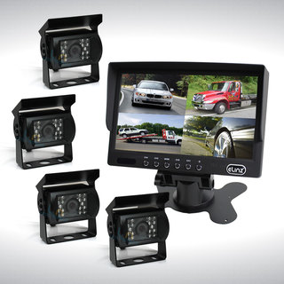 "7"" Quad Monitor Splitscreen with 4 Cameras Package"