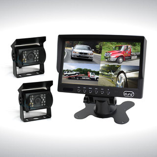"7"" Quad Monitor Splitscreen with 2 Camera Package"