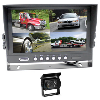 "9"" Splitscreen Monitor 4PIN Colour CCD IR Rearview Reversing 1x Camera Package"