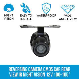 170° Reversing Camera CMOS Car Rear View IR Night Vision 12V Elinz