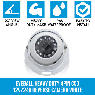 4 PIN Heavy Duty Caravan CCD IR Colour Reversing Camera