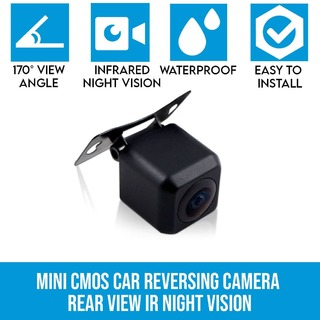 Mini CMOS Car Reversing Camera Rear View IR Night Vision