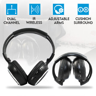 WIRELESS IR CORDLESS Dual Channel Headphone 2PAIRS