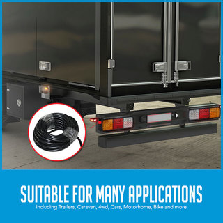10M 5 Core Wire Trailer Cable V90 PVC Insulated Automotive Boat Caravan Truck
