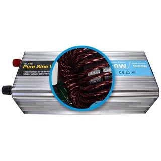Elinz Pure Sine Wave Power Inverter 2500w/5000w 24v - 240v AUS plug Truck Car Caravan
