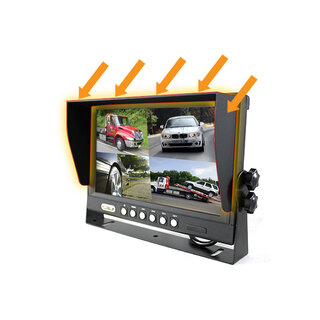 "9"" Splitscreen Monitor Reversing Camera Colour 4PIN CCD IR LED Rearview 12V/24V"