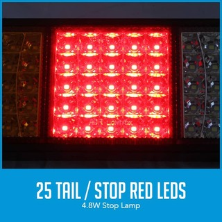 2x LED Trailer Light Reverse Indicator Brake Tail Lights Truck Caravan UTE 12V 75 LEDs