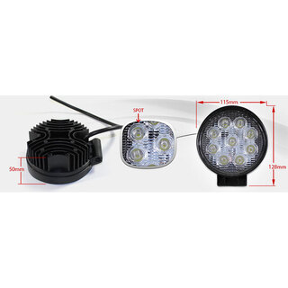 Elinz 27w Driving Light Epistar LED Round Spot Worklight 12V 24V Offroad Truck 4WD 4X4